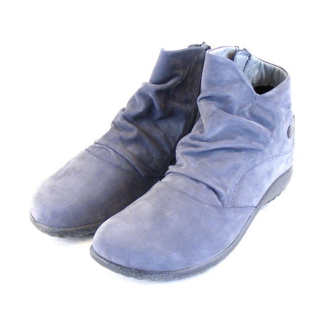 Naot Damen Schuhe Stiefeletten Kahika Echt-Leder hellblau Wechselfußbett 16026