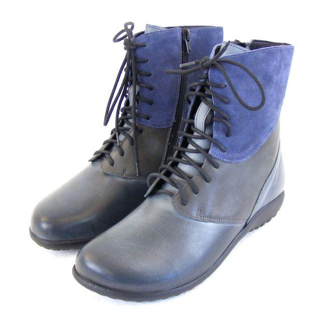 Naot Damen Schuhe Stiefeletten Atopa Echt-Leder grau blau combi Fußbett 16032 – Bild 1