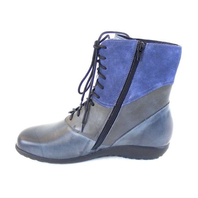 Naot Damen Schuhe Stiefeletten Atopa Echt-Leder grau blau combi Fußbett 16032 – Bild 2