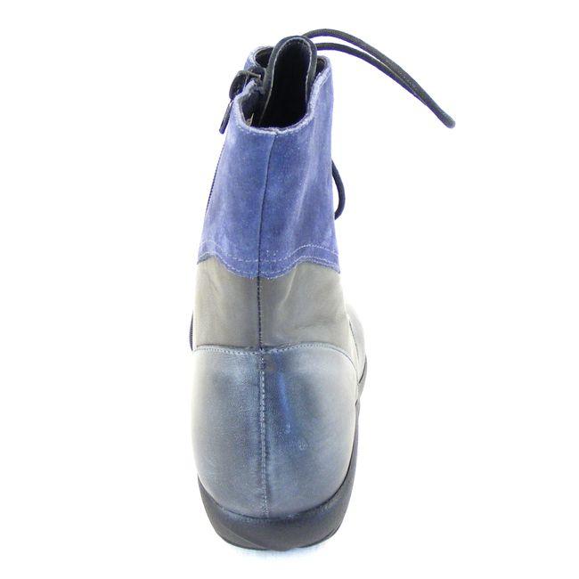 Naot Damen Schuhe Stiefeletten Atopa Echt-Leder grau blau combi Fußbett 16032 – Bild 3