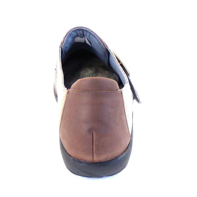 Naot Damen Schuhe Halbschuhe Tane Echt-Leder braun grau combi Fußbett 16038  – Bild 3