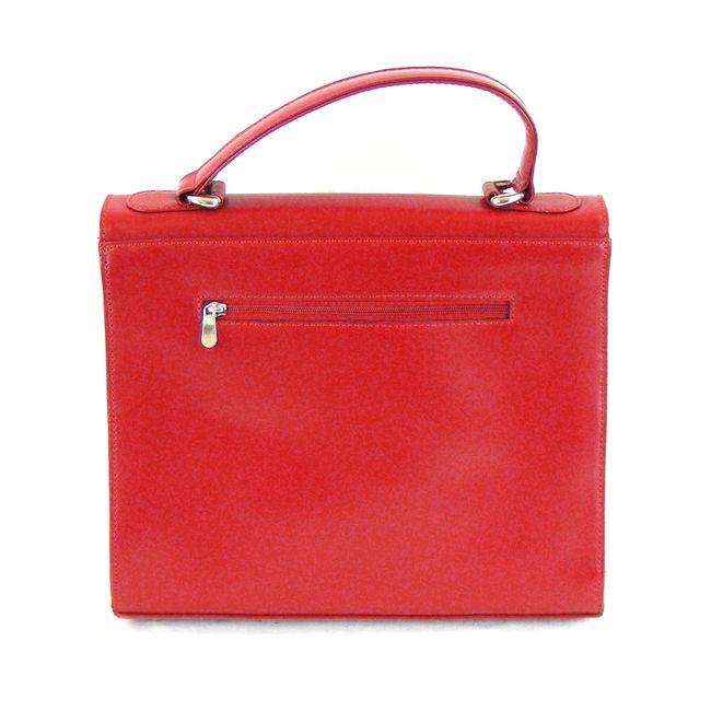 Pavini Damen Tasche Überschlagtasche Roma Echt-Leder rot Handyfach 16157 – Bild 3