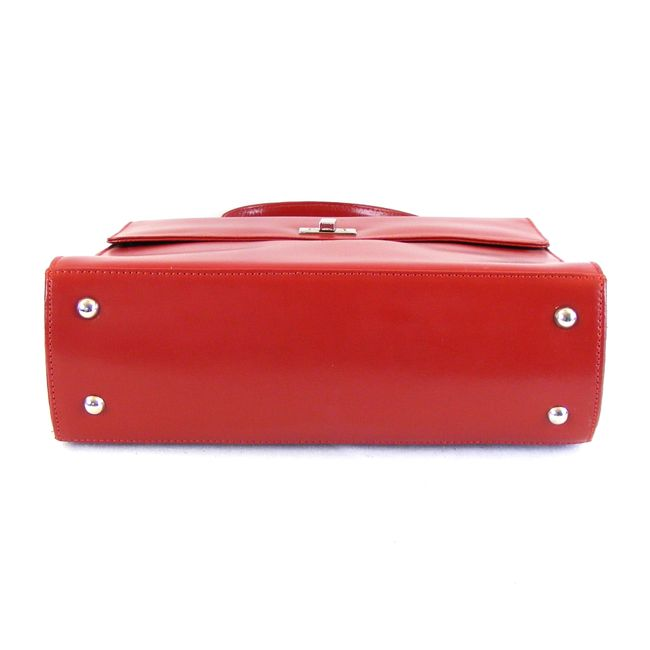 Pavini Damen Tasche Überschlagtasche Roma Echt-Leder rot Handyfach 16157 – Bild 5