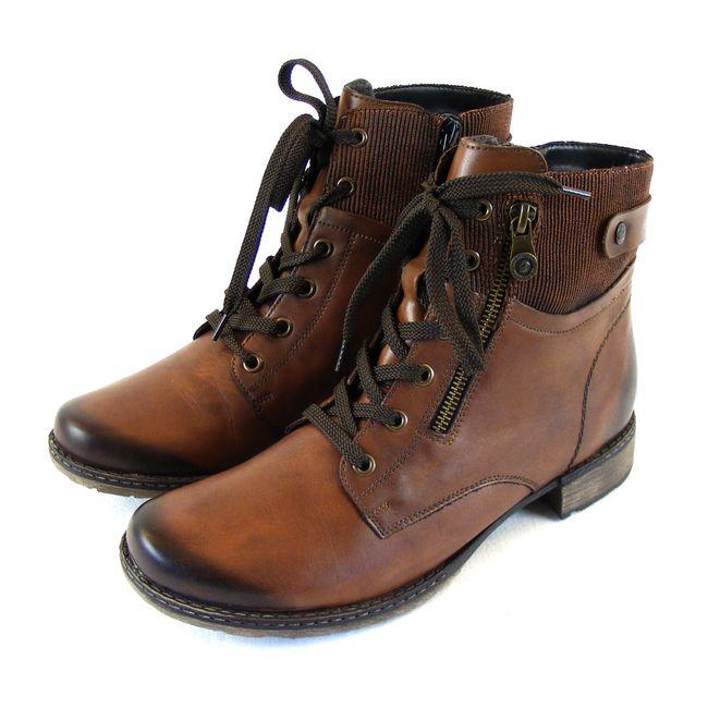 best website 99ee5 d3d7c Remonte Damen Schuhe Boots Reißverschluss Echt-Leder braun lose Einlage  16188