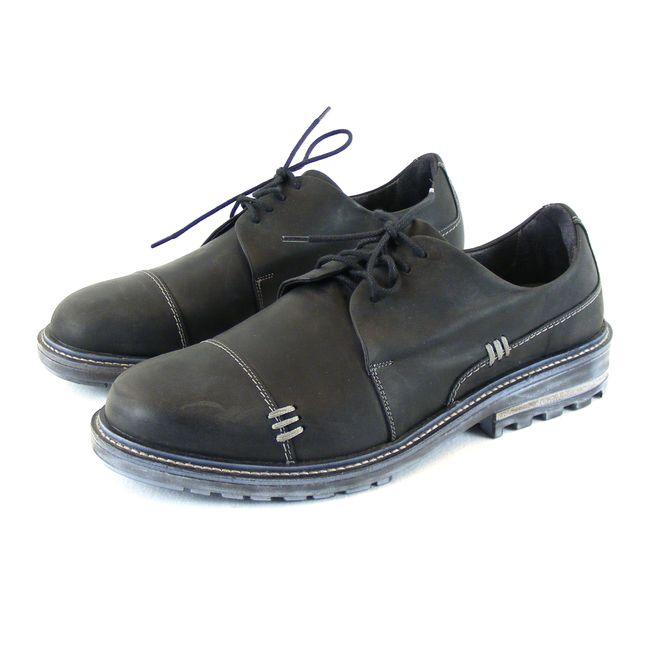 Naot Herren Schuhe Halbschuhe Simiyu Echt-Leder schwarz Wechselfußbett 16200 – Bild 1