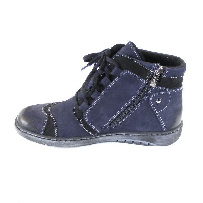 Manitu Damen Schuhe Knöchelschuhe Nubuk-Leder marine blau 16230 Wechselfußbett – Bild 2
