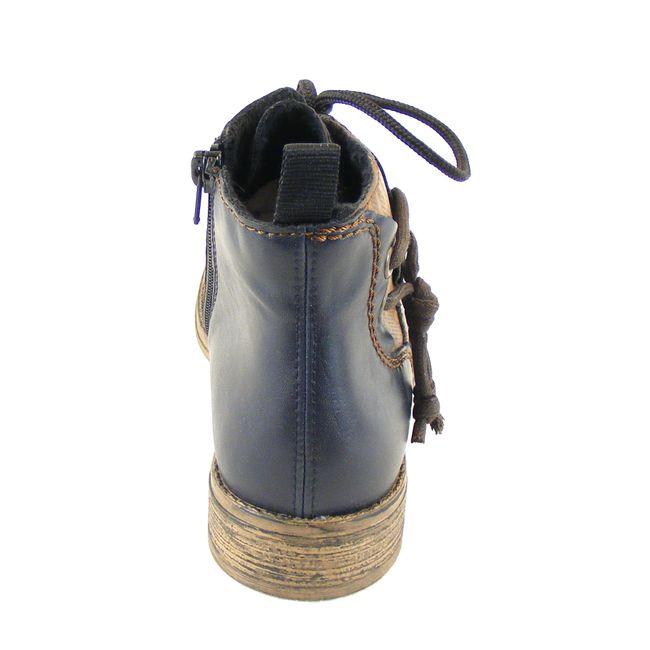 Rieker Damen Schuhe Knöchelschuhe Synthetik blau combi warm gefüttert 16247 – Bild 3