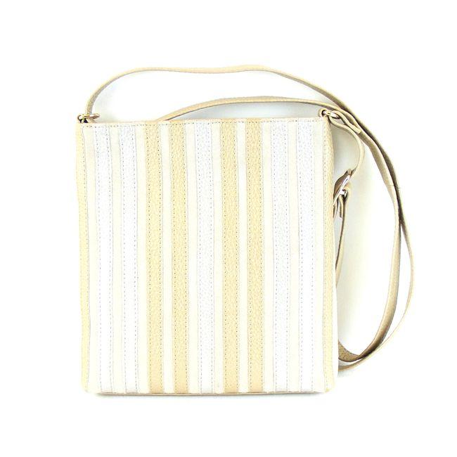 Pavini Damen Tasche Crossovertasche Florenz Echt-Leder gold multi Streifen 16424 – Bild 1