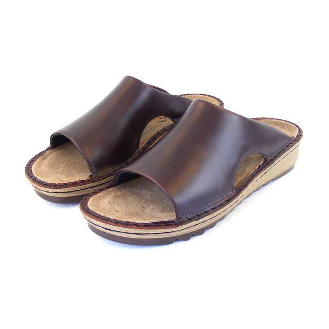 Naot Damen Schuhe Pantoletten Ardisia Echt-Leder braun buffalo Fußbett 16481