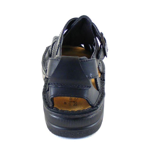 Naot Herren Schuhe Sandaletten Julius Echt-Leder schwarz matt Wechselfußbett    – Bild 3