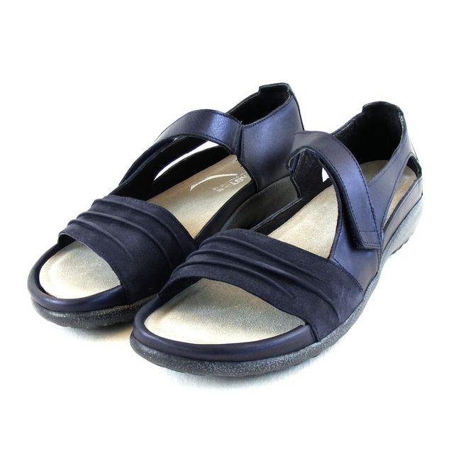 Naot Damen Schuhe Sandaletten Papaki Echt-Leder dunkelblau combi Fußbett 16511