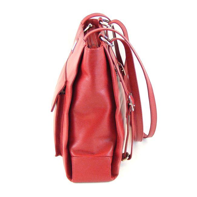 Pavini Damen Tasche Shopper/Rucksacktasche Classics Echt-Leder rot 16528 – Bild 2
