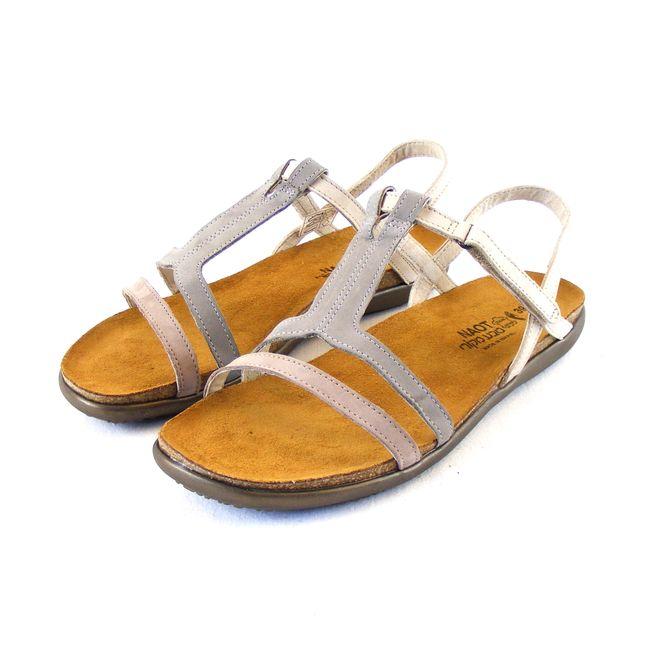 Naot Damen Schuhe Sandaletten Judith Echt-Leder stone grau beige Nubuk 16545