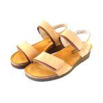 Naot Damen Schuhe Sandaletten Aisha Echt-Leder natur combi Nubuk Fußbett 16557 001