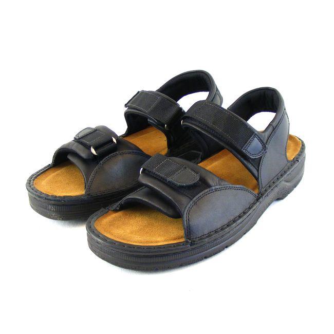 Naot Herren Schuhe Sandaletten Andes Echt-Leder schwarz matt Fußbett 16577 – Bild 1