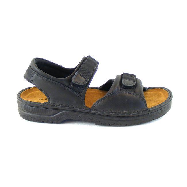 Naot Herren Schuhe Sandaletten Andes Echt-Leder schwarz matt Fußbett 16577 – Bild 4