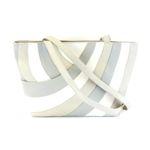 Pavini Damen Tasche Shopper Amalfi Echt-Leder beige multi Reißverschluss 16615 001