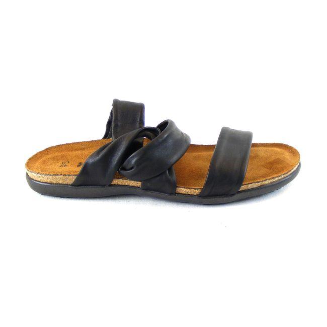 Naot Damen Schuhe Pantoletten Lidia Echt-Leder schwarz Fußbett Korkfußbett 16637 – Bild 4
