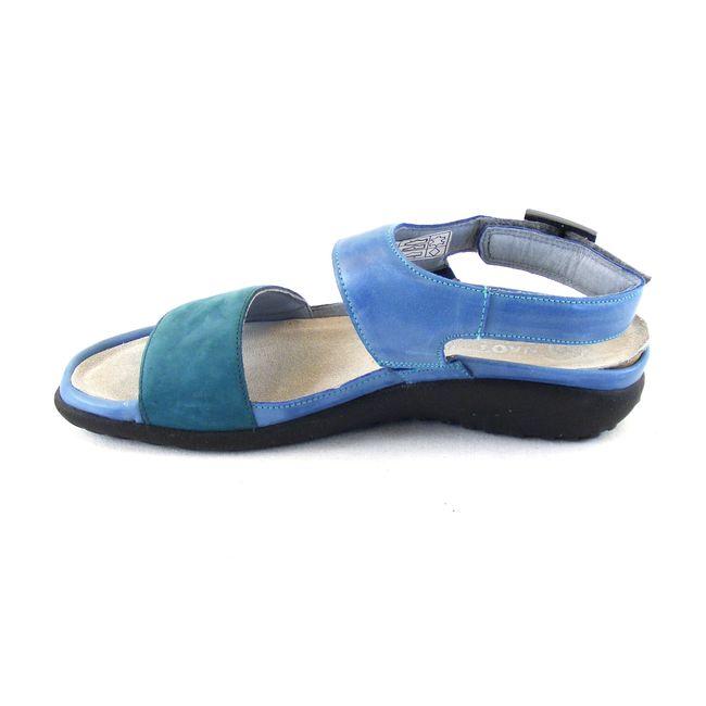 Naot Damen Schuhe Sandaletten Haki Echt-Leder blau-petrol Wechselfußbett 16699 – Bild 2