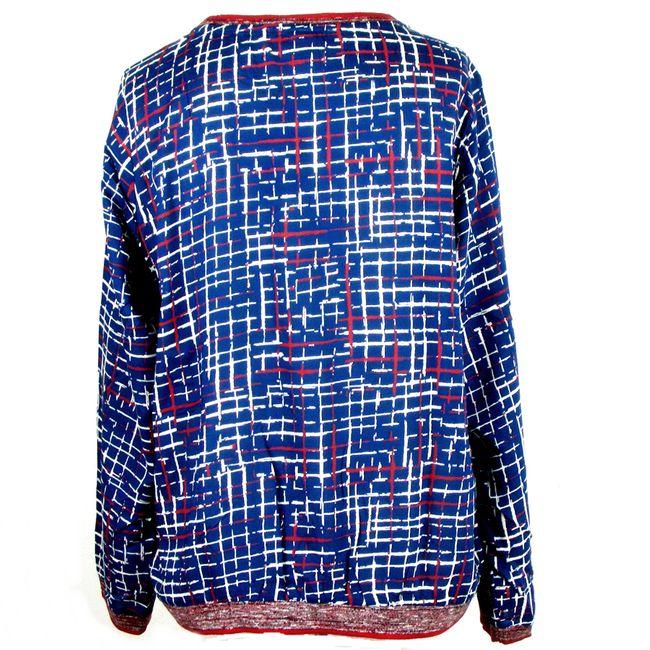 Cecil Damen Bluse, Karo Print, deep blue 34337 College Style Langarm Viskose – Bild 3
