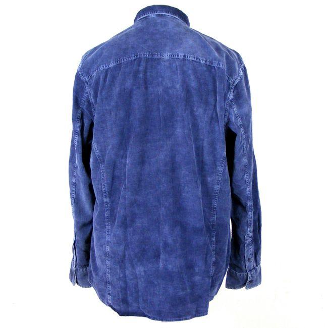 Pioneer Herren Freizeithemd Langarm 34454 blueberry Baumwolle Feincord – Bild 3