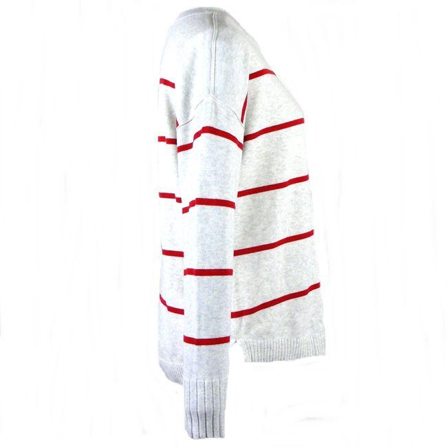 Cecil Damen Strickpullover langarm 34473 off white melange gestreift – Bild 4