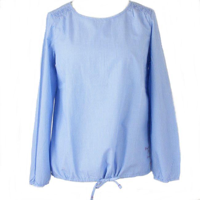 Cecil Damen Streifenbluse 34544 indigo mid blue langarm maschinenwaschbar – Bild 1