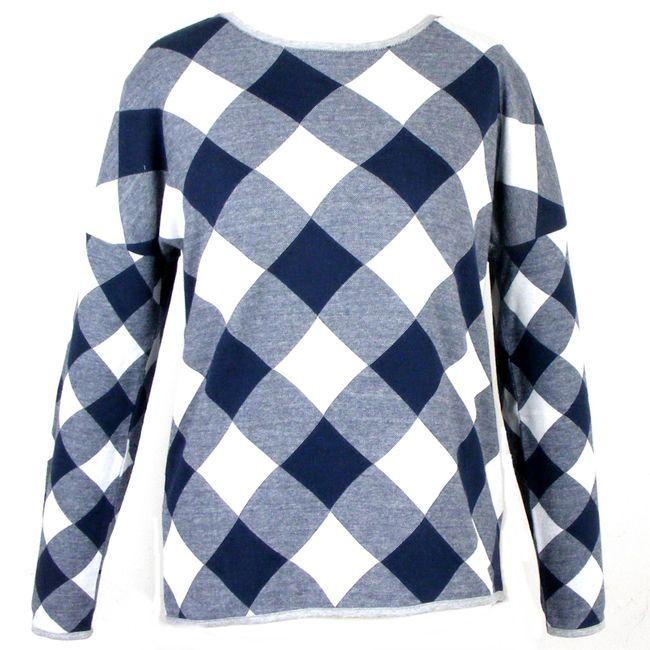 Cecil Damen Sweatshirt 34584 deep blue langarm Baumwolle Maschinenwaschbar – Bild 1