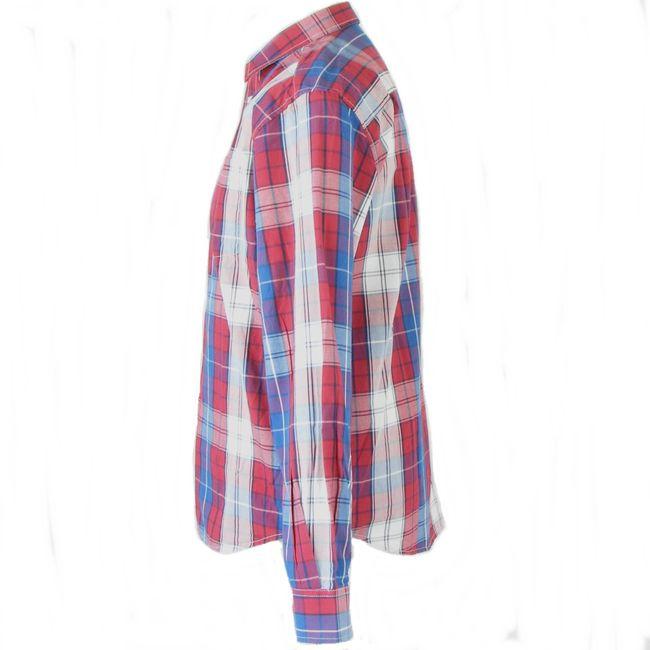Wrangler Herren Freizeithemd Langarm rot-blau Karodesign Regular Fit 34600 – Bild 2