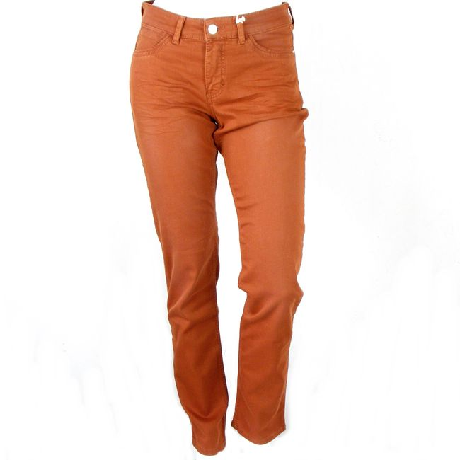 MAC Damen Straight Jeans Carrie Pipe Farbe Zimt Baumwoll Mischung 34655