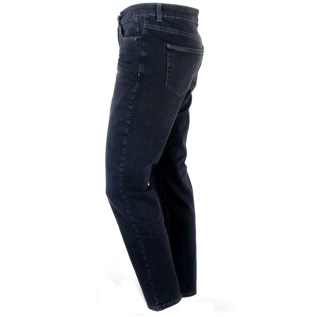 MAC Damen Jeans Melanie Pipe smart schwarz Fivepocket dezent gecrincelt 34701 – Bild 2