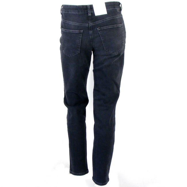 MAC Damen Jeans Melanie Pipe smart schwarz Fivepocket dezent gecrincelt 34701 – Bild 3