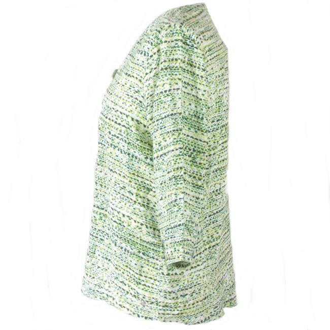 Cecil Damen Longbluse mit Grafikprint 3/4 Arm clover green Viskose 34740 – Bild 2