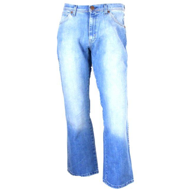 Wrangler Herren Denim Jeans Alaska  hellblau stone washed gerader Schnitt 34755 – Bild 1