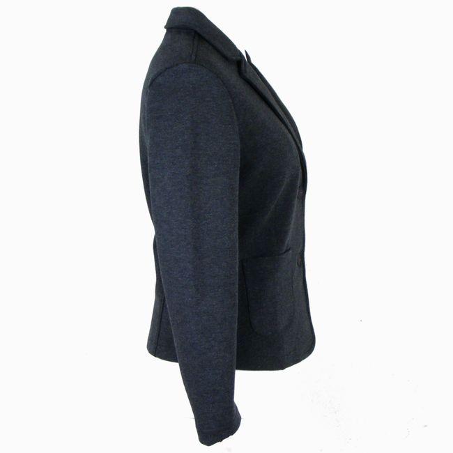 Cecil Damen Basic Sweatblazer Baumwollmischgewebe dark graphite grey melange (Grau) 34801 – Bild 4