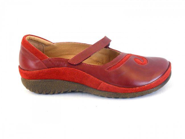 Naot Damen Schuhe Halbschuhe Leder Matai rot rumba 6053 Ballerina Wechselfußbett – Bild 4