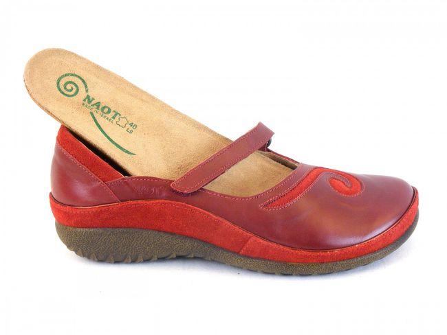 Naot Damen Schuhe Halbschuhe Leder Matai rot rumba 6053 Ballerina Wechselfußbett – Bild 6