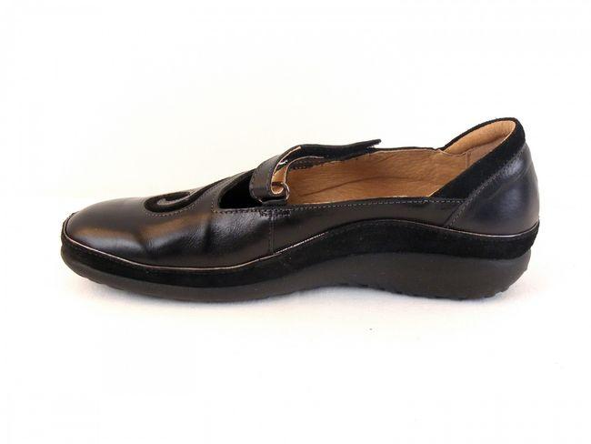 Naot Damen Schuhe Halbschuhe Leder Matai schwarz 6060 Wechselfußbett  – Bild 2
