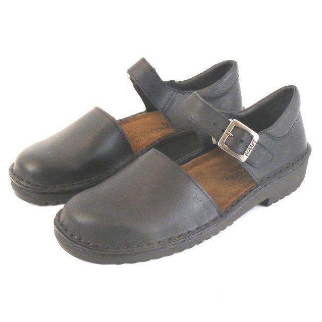 Naot Damen Schuhe Halbschuhe Olga Echt-Leder schwarz 6079 Wechselfußbett – Bild 1