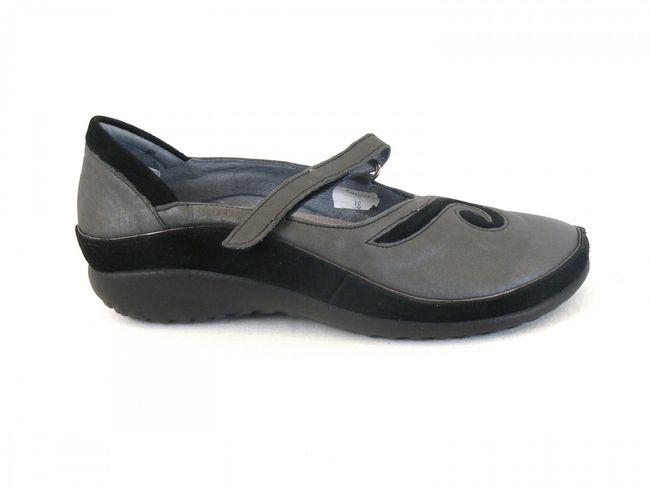Naot Damen Schuhe Halbschuhe Leder Matai grau 6388 Wechselfußbett Klettverschluß – Bild 4