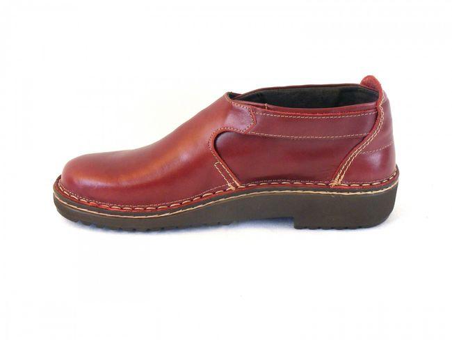 Naot Damen Schuhe Halbschuhe Leder Malta rot 6450 Wechselfußbett Schnalle – Bild 2