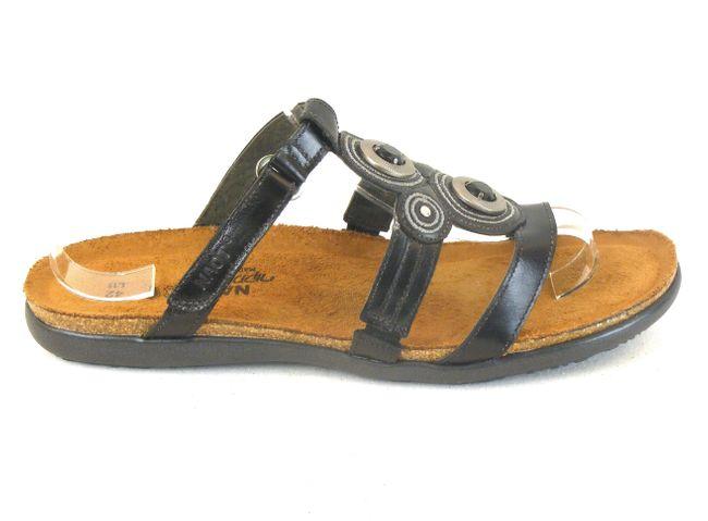 Naot Eiger braun Herren Schuhe Slipper Leder 10246 Wechselfußbett Echtleder