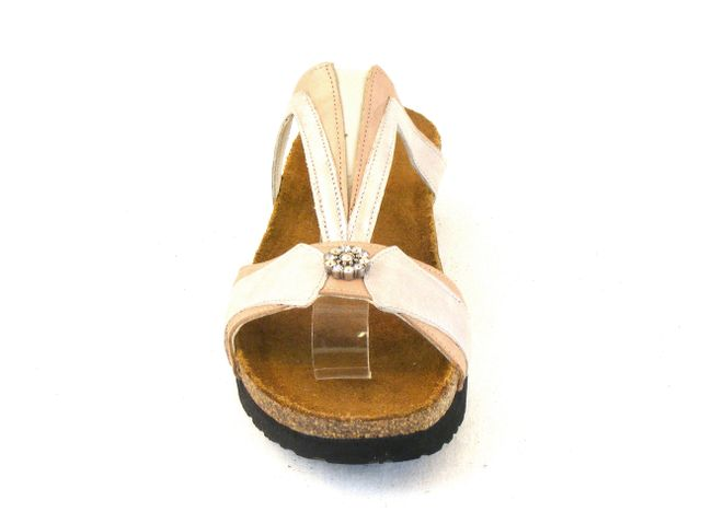 Naot Damen Schuhe Pantoletten Teresa Echt-Leder natur/quartz Korkfußbett 6494  – Bild 2