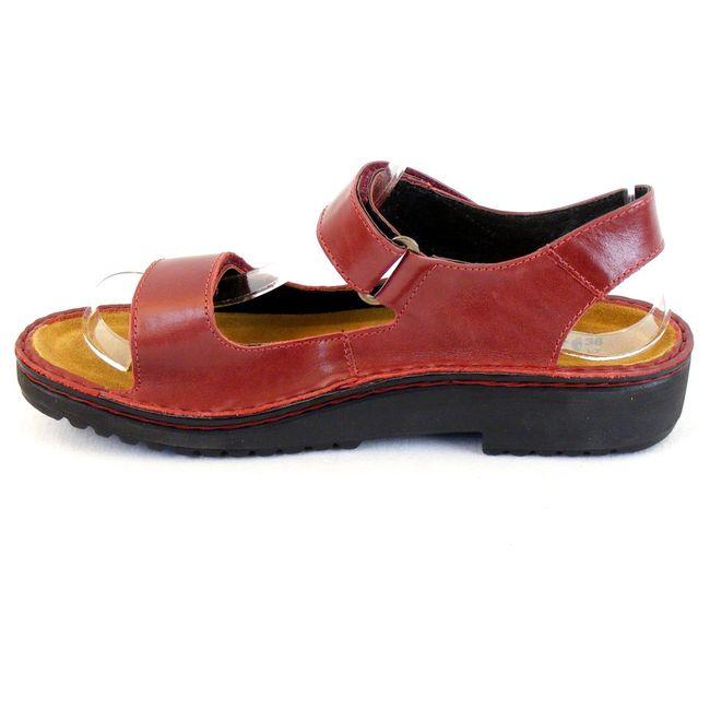 Naot Damen Schuhe Sandaletten Karenna Echt-Leder rot 7860 Wechselfußbett – Bild 2