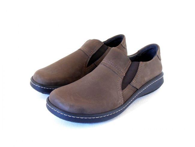 Naot Herren Schuhe Slipper Lava Echt-Leder Nubuk braun Wechselfußbett 8627 – Bild 1