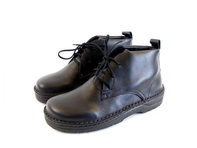 Naot Herren Schuhe Knöchelschnürschuhe Leder Arcadia schwarz Wechselfußbett 8645 – Bild 1
