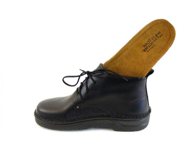 Naot Herren Schuhe Knöchelschnürschuhe Leder Arcadia schwarz Wechselfußbett 8645 – Bild 6
