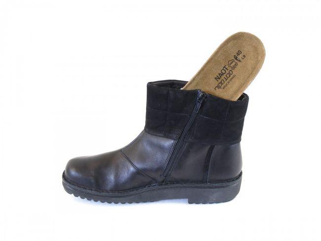 Naot Damen Schuhe Stiefeletten Leder Kristin schwarz 8944 Wechselfußbett Kork – Bild 6