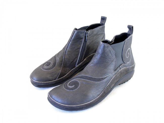 Naot Damen Schuhe Stiefeletten Chi Echt-Leder grau 8956 Wechselfußbett Echtleder – Bild 1