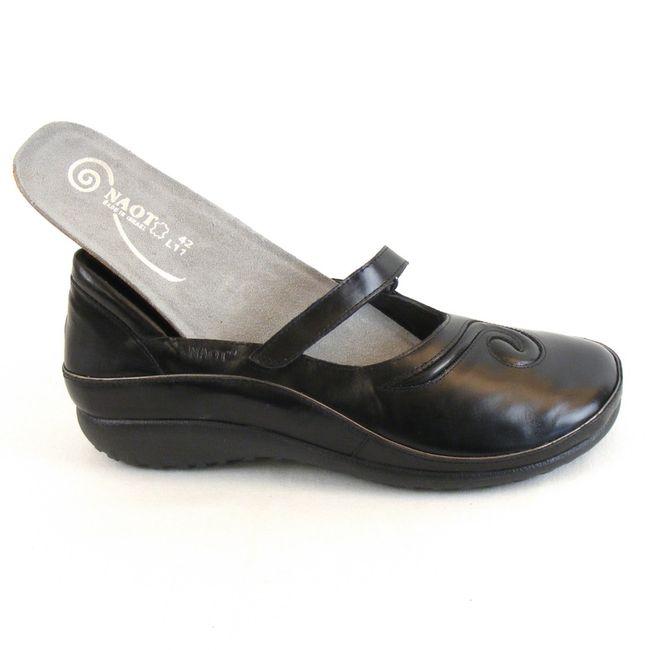 Naot Damen Schuhe Halbschuhe Matai Leder schwarz 9479 Wechselfußbett Freizeit – Bild 6